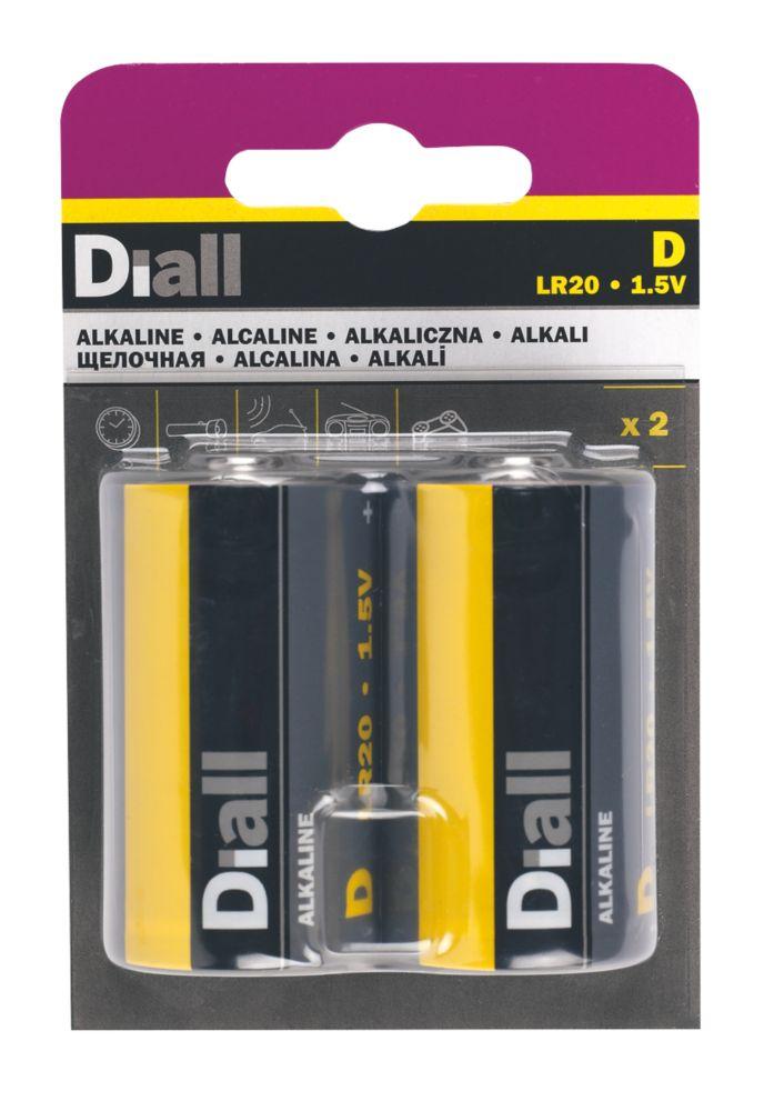 Lot de 2piles alcalinesD Diall