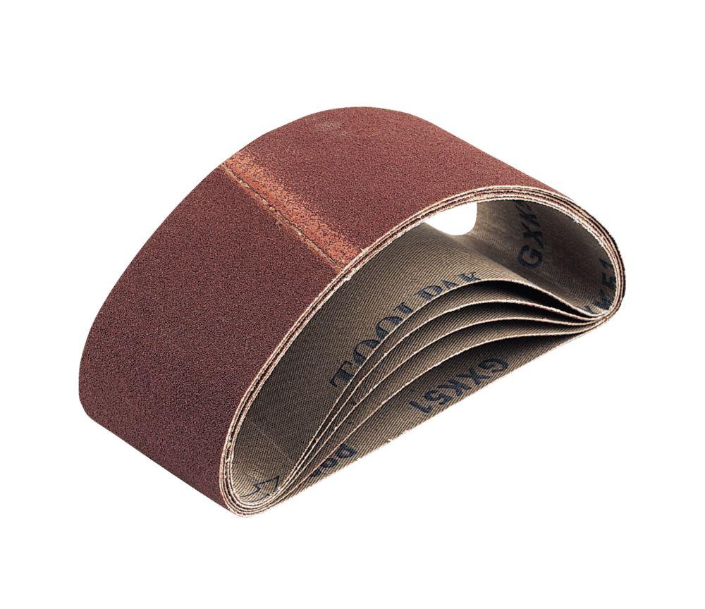 Bandes de ponçage en tissu non perforées grain60 410 x 65mm, lot de 5