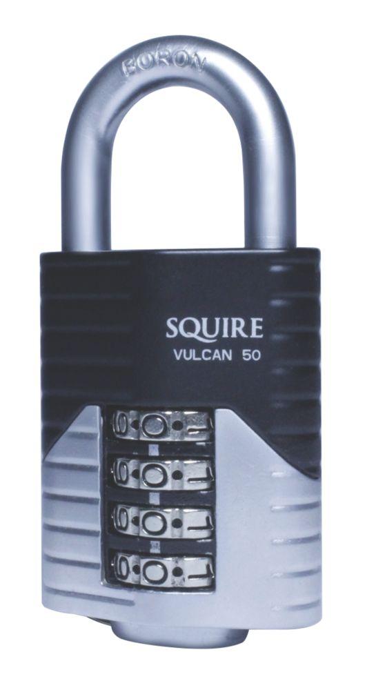 Cadenas à combinaison en acier moulé résistant aux intempéries Squire 50mm