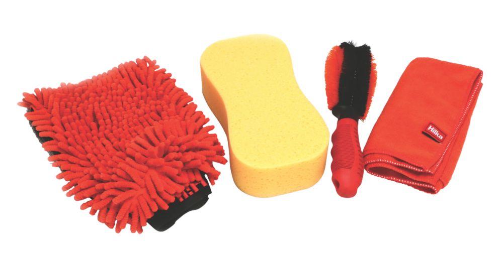 Kit de nettoyage de voiture Hilka Pro-Craft 4pièces
