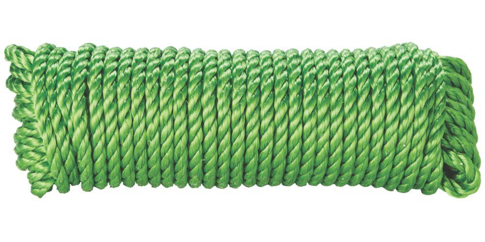Corde torsadée Diall verte 10mm x15m
