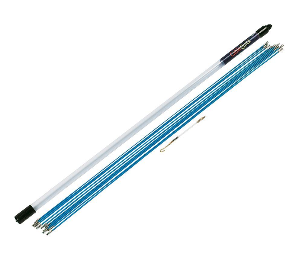 Kit de baguettes tire-fils flexibles 28mm CableQuick Quick Set 10m