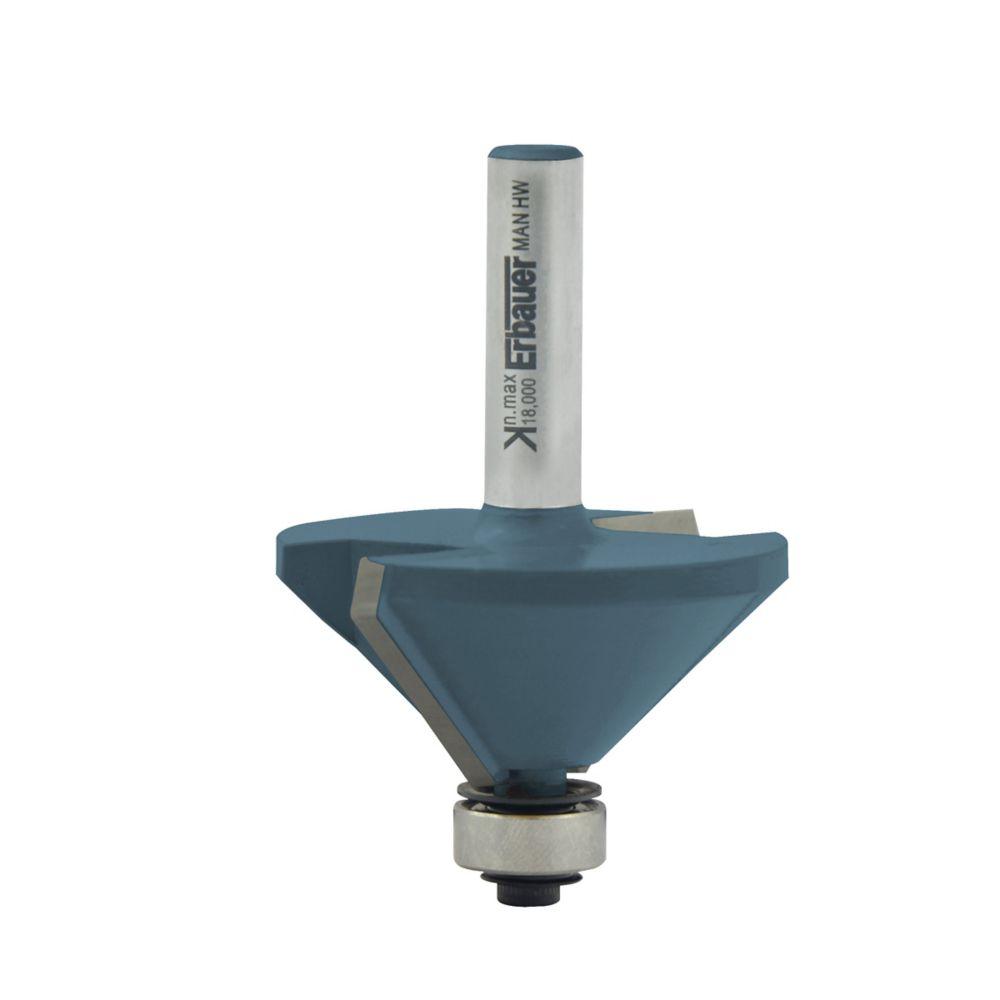 Fraise de défonceuse à chanfreiner ø 30 x l. 8 mm, 45°