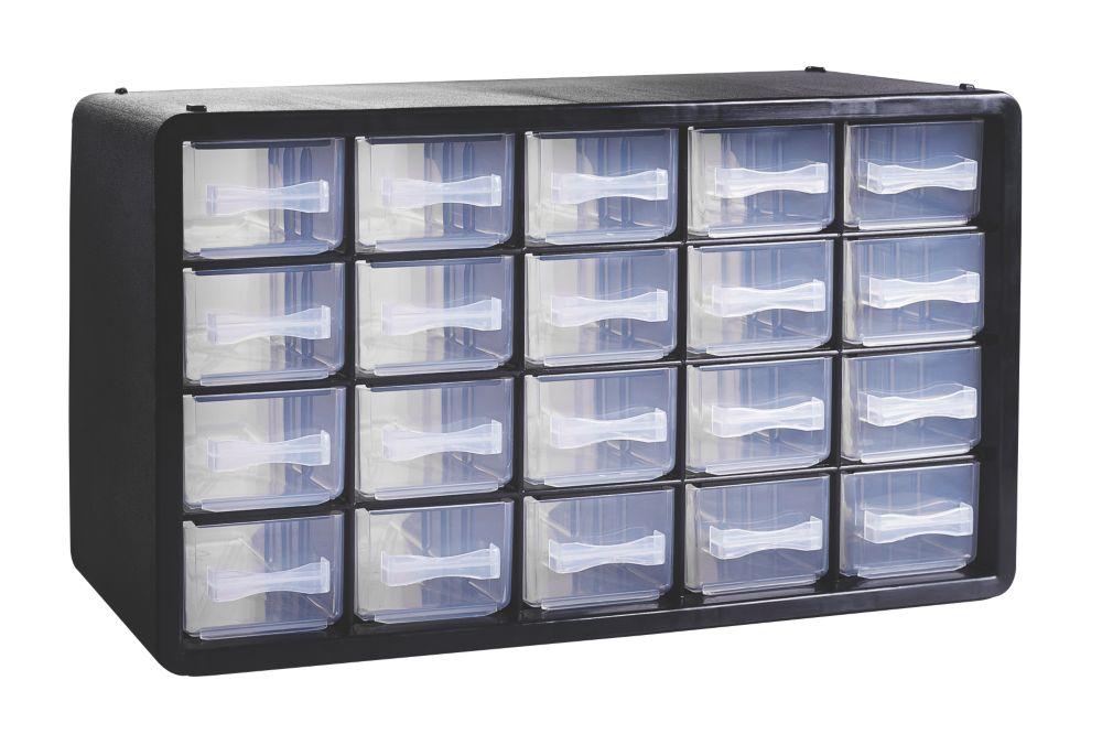 Unité de rangement en plastique avec 20tiroirs