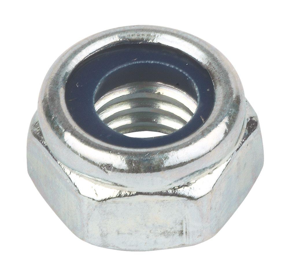 100contre-écrous en nylon et acier zingué brillant Easyfix M10
