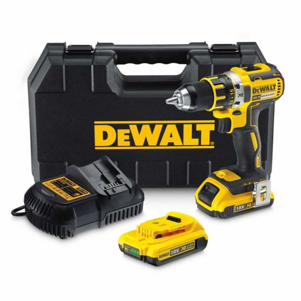Perceuse visseuse sans fil sans charbon Dewalt DCD790D2 18V-2x2Ah