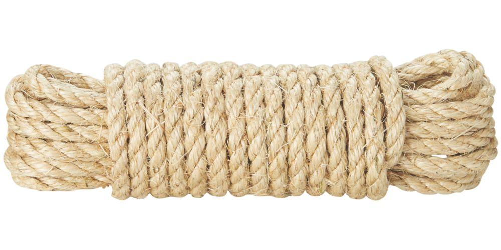 Corde torsadée Diall naturelle 10mm x10m