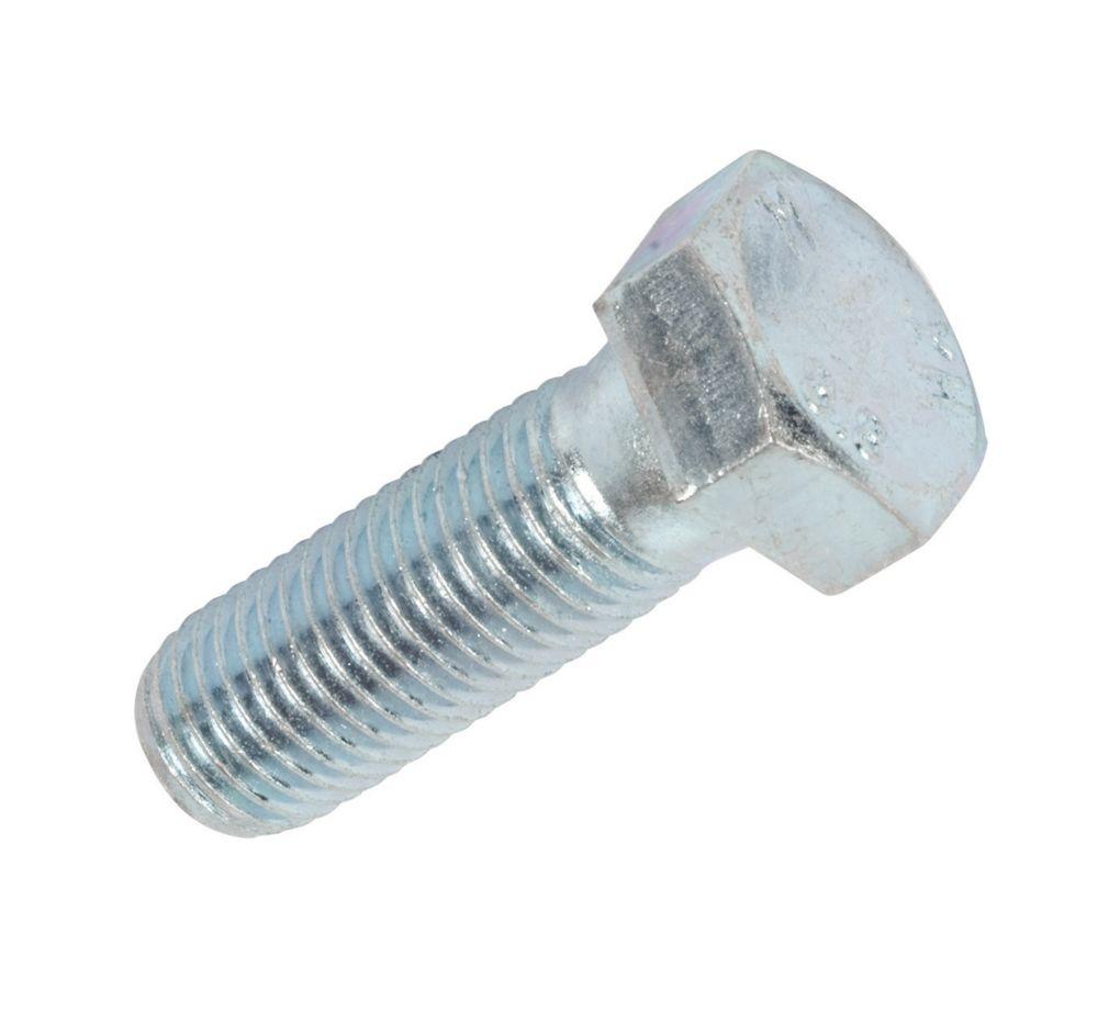 25boulons à tête hexagonale en acier à haute résistance zingué brillant Easyfix87521 M20 x60mm