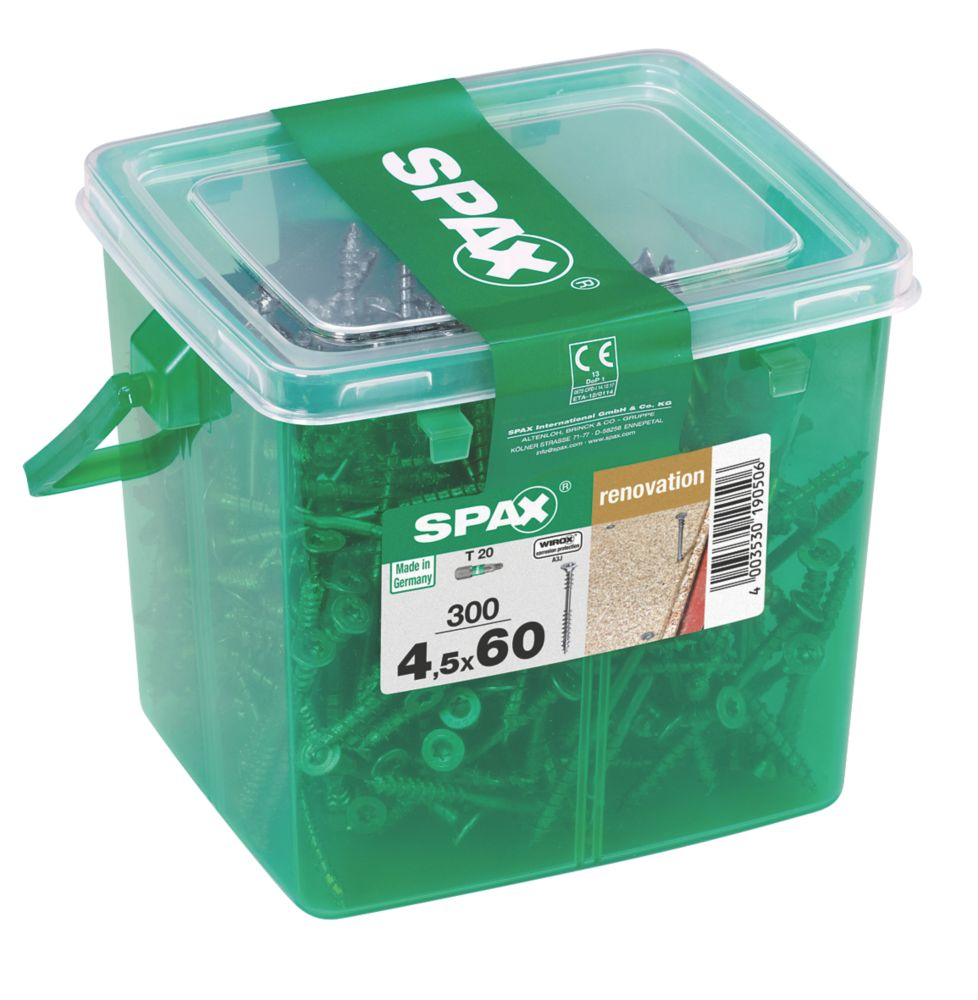300vis de plancher WIROX à tête fraisée TX Spax Wirox 4,5 x60mm