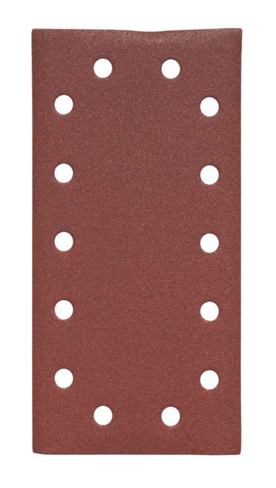 Lot de 5feuilles abrasives perforées Flexovit ½ 230 x 115mm grain60