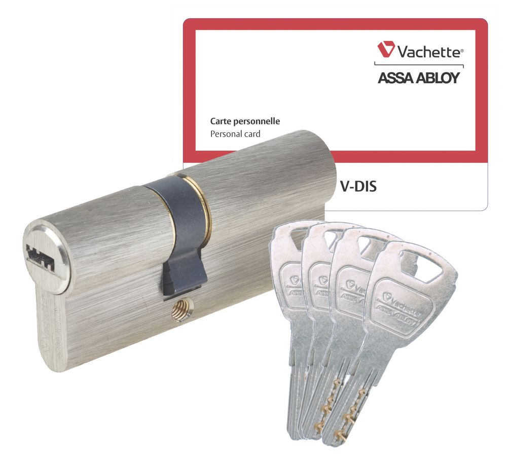 Cylindre de sécurité Vachette 30 x 40 mm