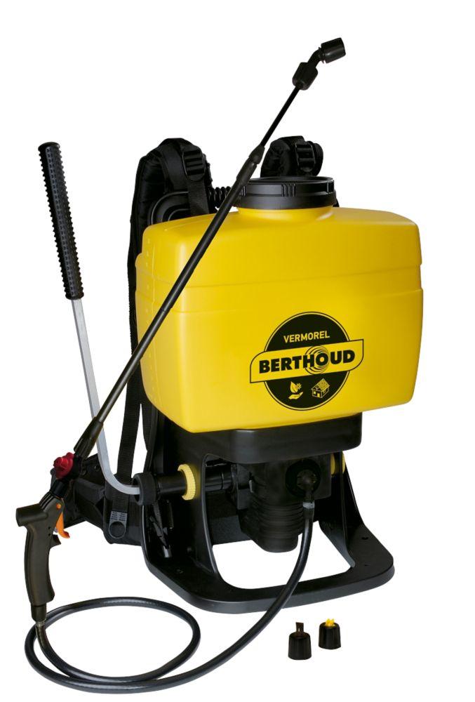 Pulvérisateur à dos noir et jaune Berthoud 9120X 16L