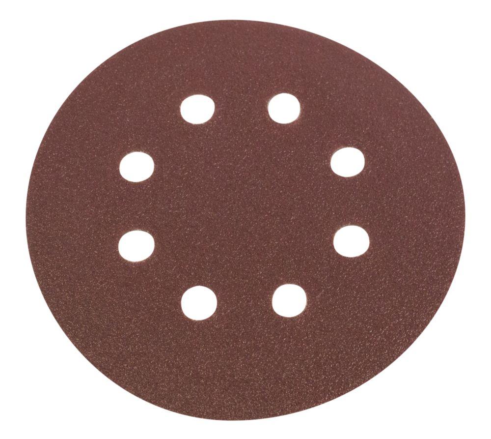 Lot de 6disques de ponçage perforés Flexovit grain80 125mm