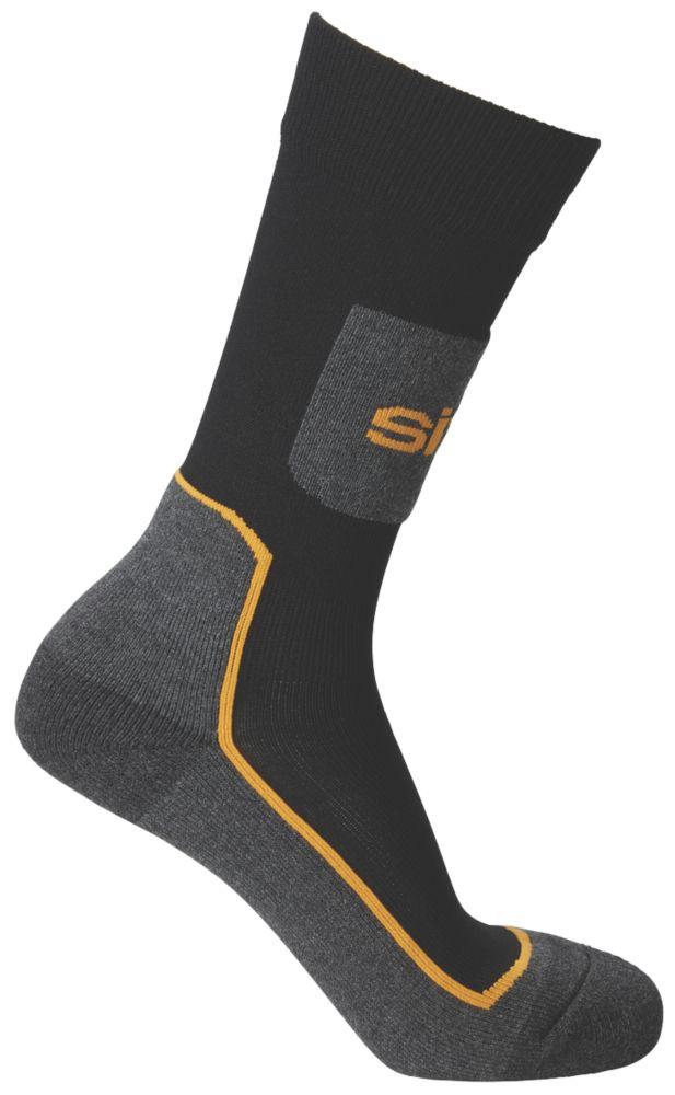 Chaussettes de travail Site Comfort noir / gris taille 35-41, 3paires