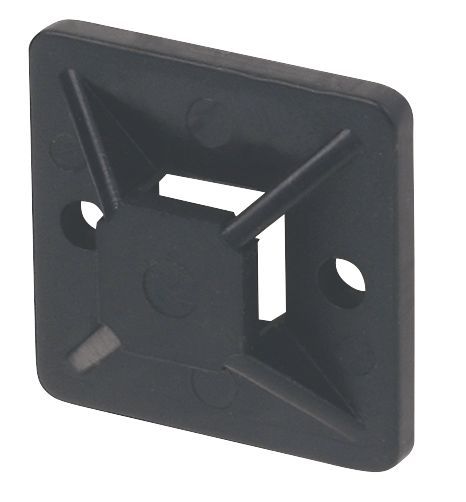 100embases adhésives bidirectionnelles noires 19x 19mm