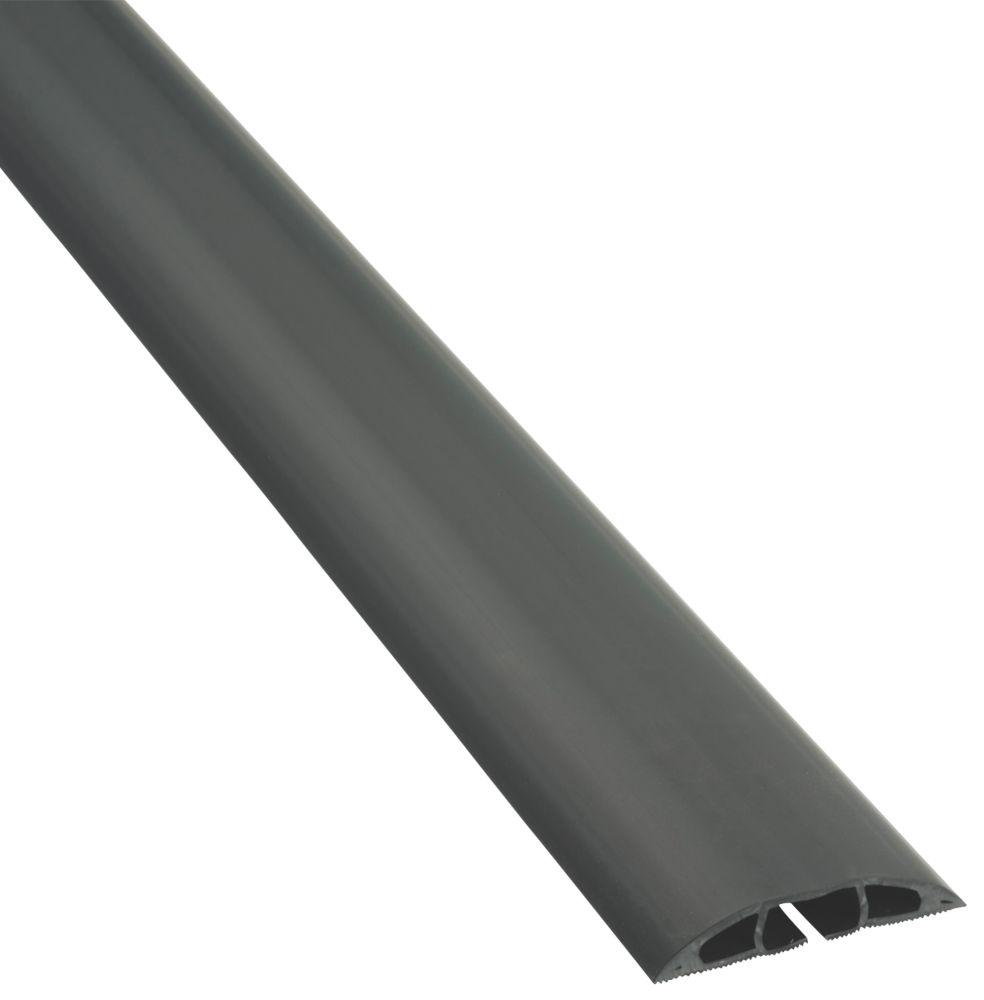 Cache-câble multiple D-Line à usage peu intensif noir 1,8m
