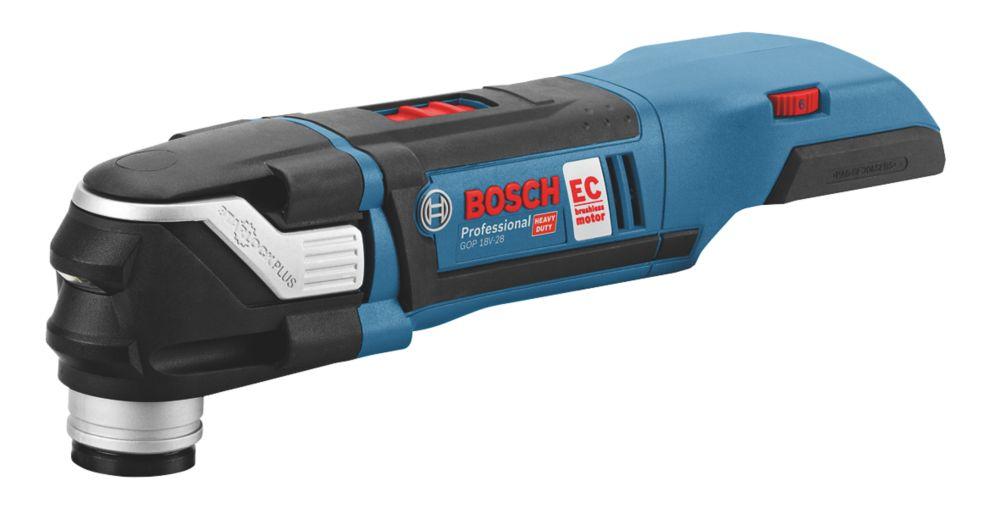 Outil multifonction sans fil sans charbon Bosch GOP18V-28 18V Li-ion - Sans batterie