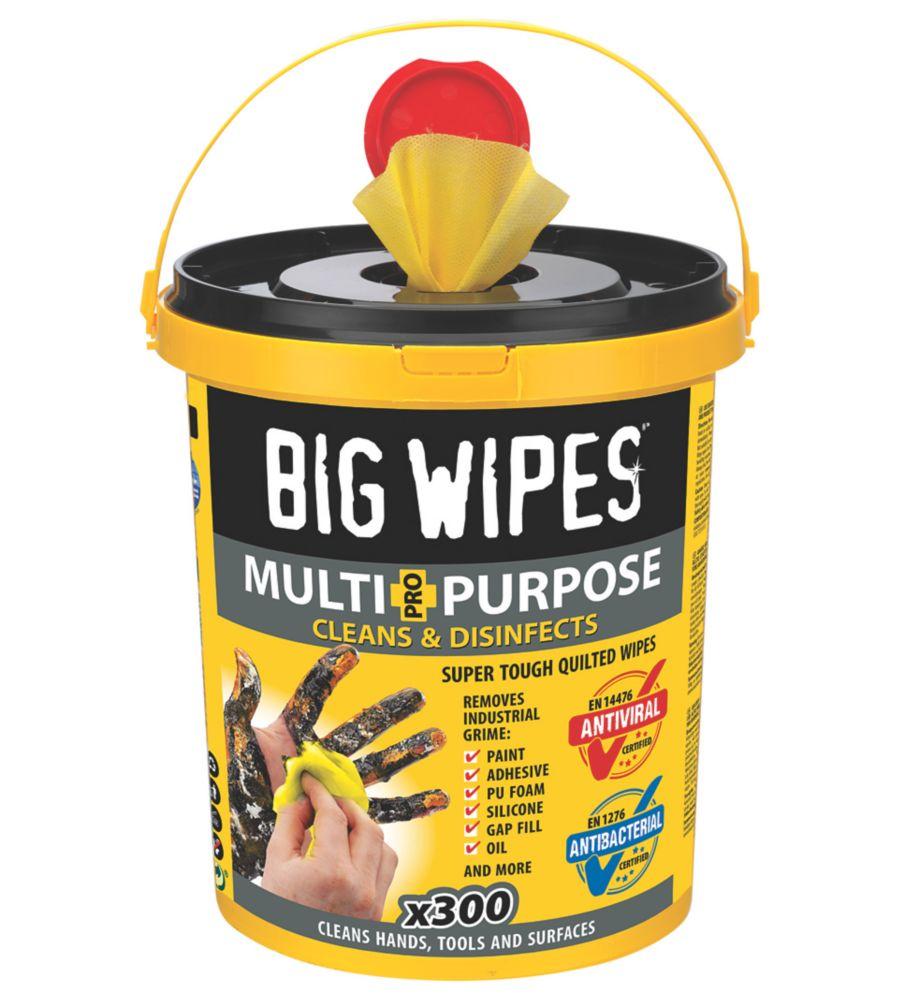 300lingettes nettoyantes polyvalentes Big Wipes jaunes