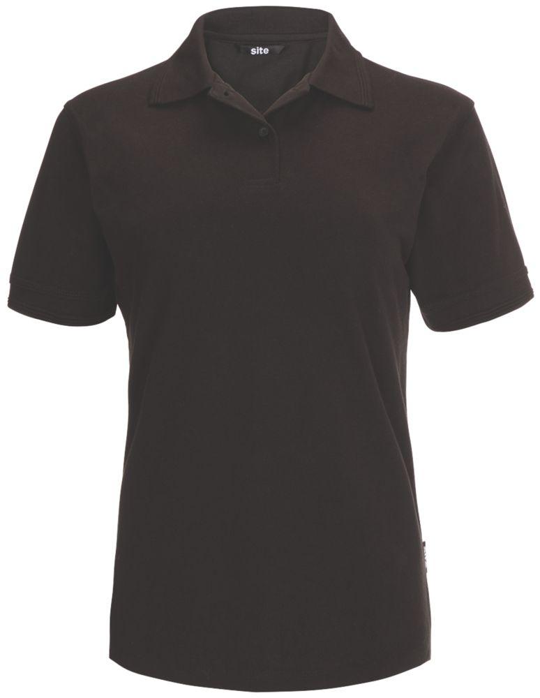 Polo pour femme Site Tanneron noir, taille12-14