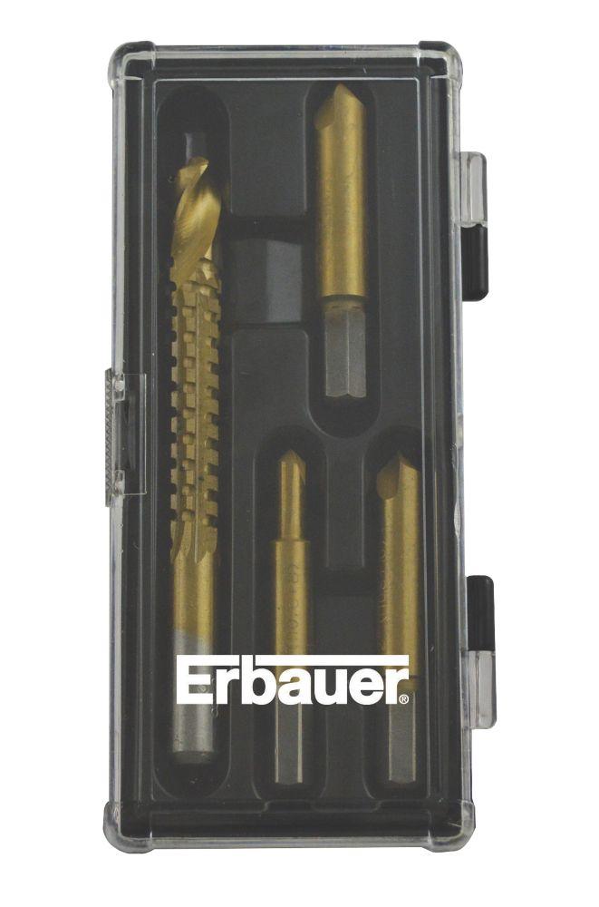 Jeu d'extracteurs de vis Erbauer, 4pièces