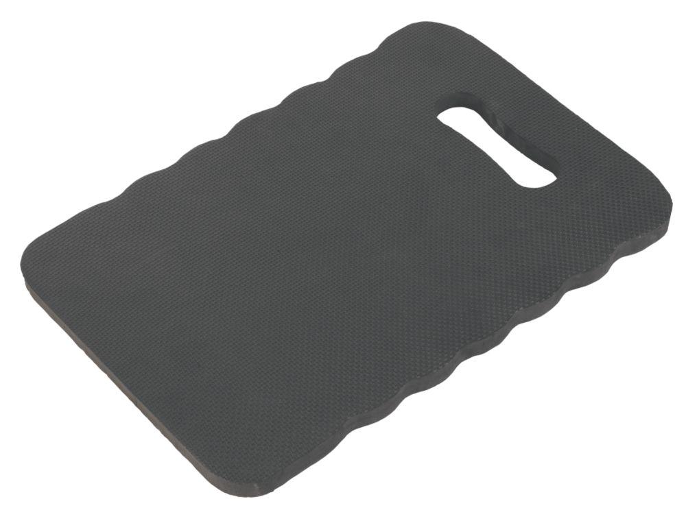 Tapis repose-genoux noir à support en mousse à mémoire de forme