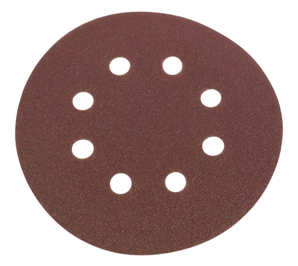 Lot de 6disques de ponçages perforés Flexovit 115mm grain50 / 80 / 120
