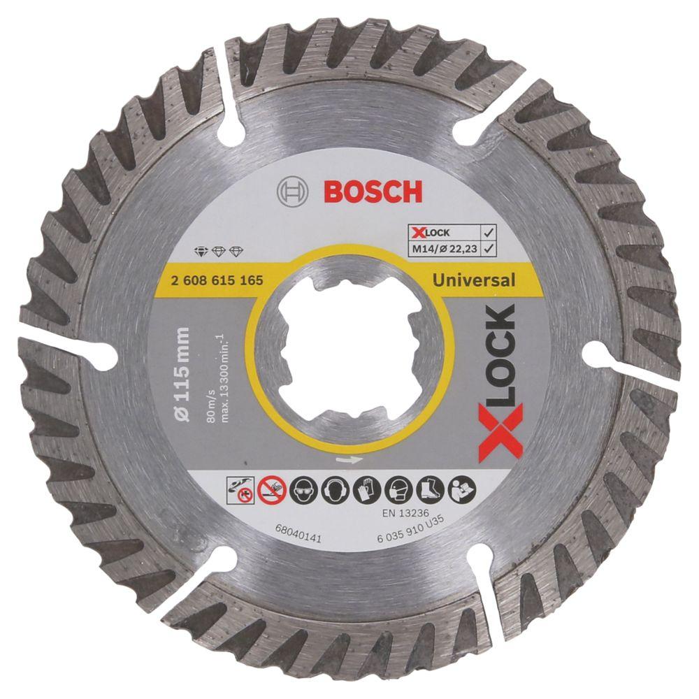 Disque de coupe diamant pour béton/pierre Bosch X-Lock 115 x 22,23mm