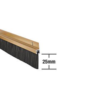 Joint à brosse robuste Stormguard doré anodisé 0,91m