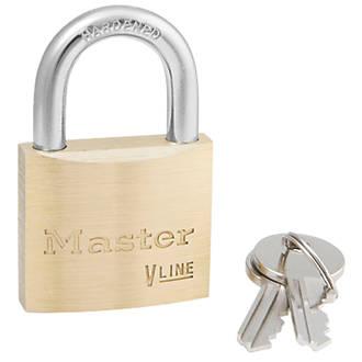Cadenas à clé commune en laiton Master Lock 4140KA VLine 40mm