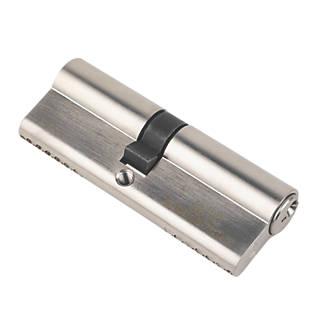 Serrure à double cylindre européen à 6points Smith & Locke 1* 40-45 (85mm), nickel poli
