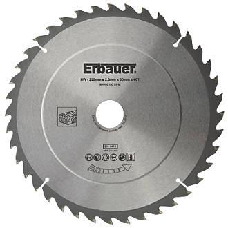 Lame de scie TCT 40dents Erbauer 250 x 30mm