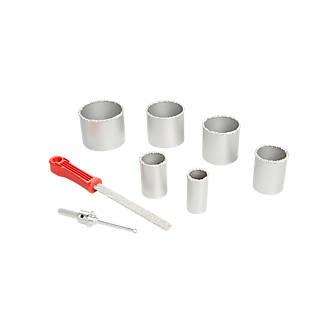 Trépan revêtement carbure hexagonal ø35, 45, 54, 68, 73 et 85mm universel - 6 pièces