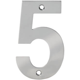 Numéro de porte5 Eclipse en acier inoxydable poli 100mm