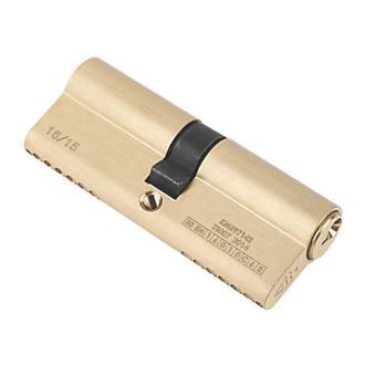 Serrure à double cylindre européen à 6points Smith&Locke 1* 40-40 (80mm) en laiton poli