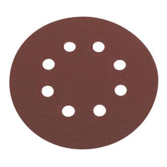 Lot de 6disques de ponçage perforés Flexovit grain120 125mm