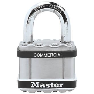 Cadenas avec passe-partout résistant aux intempéries en acier laminé Master Lock Excell 51mm