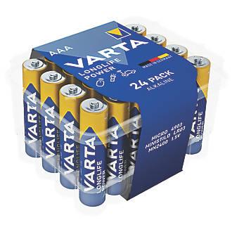 Lot de 24piles AAA puissantes et longue durée Varta