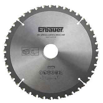 Lame de scie TCT 40dents Erbauer 210 x 30mm