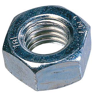 100écrous hexagonaux en acier zingué brillant Easyfix M12