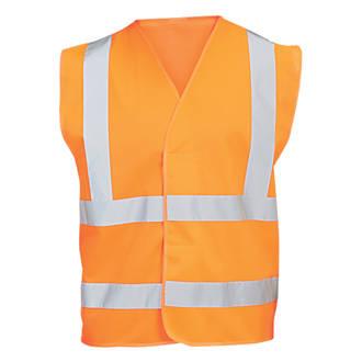 """Gilet haute visibilité orange tailleS / M, tour de poitrine 48¾"""""""