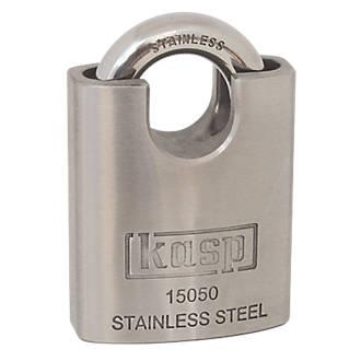 Cadenas à anse fermée étanche en acier inoxydable Kasp K15050D 50mm