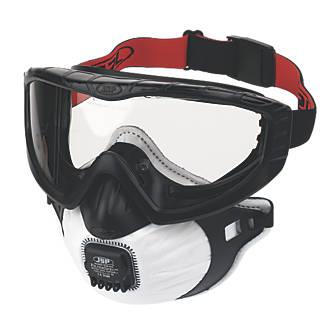 Masque respiratoire et porte-filtre avec valve JSP Filterspec Pro noir P3
