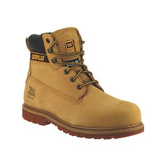 Chaussures de sécurité montantes CAT Holton S3 miel taille44