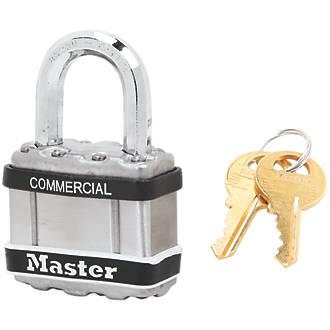 Cadenas à clé commune résistant aux intempéries en acier laminé Master Lock Excell 50mm