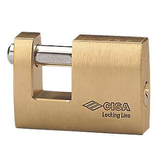 Cadenas bloc résistant aux intempéries en laiton Cisa 90mm
