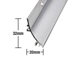 Déflecteur de pluie Stormguard en aluminium poli 0,84m