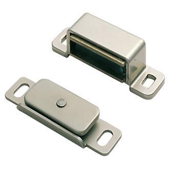 Loqueteau magnétique Carlisle Brass nickelé 15 x14mm