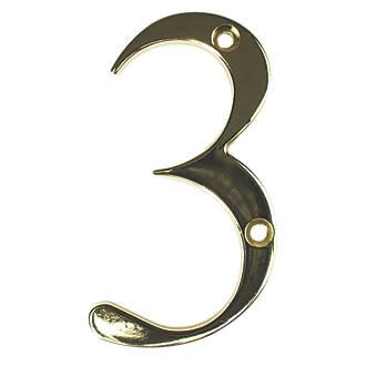 Numéro de porte3 Fab&Fix doré 80mm