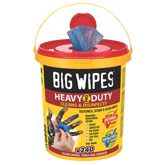 240lingettes très résistantes Big Wipes bleues