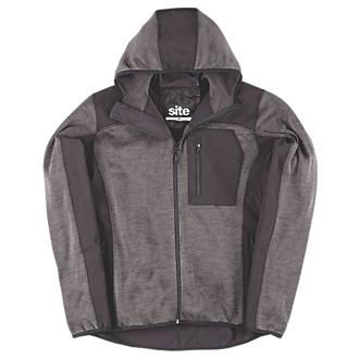 """Sweat à capuche tricoté Softshell Site Rowan gris foncé / noir tailleM, tour de poitrine 38-40"""""""
